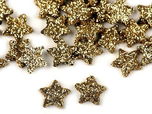 Vánoční hvězdičky s glitry Ø11 mm