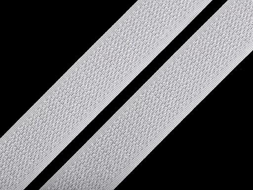 Suchý zip háček šíře 20 mm bílý