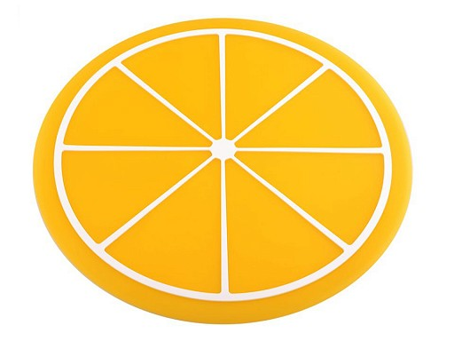 Silikonunterlage / Set Zitrone, Melone Ø24,5 cm