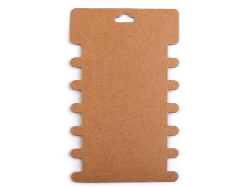 Karta papierowa natural 8,6x14,4 cm z wycięciami