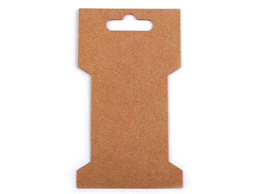Papierová karta natural 6,6x11,5 cm s výrezom