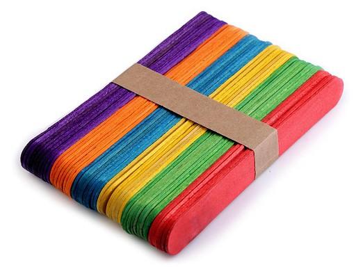 Dřevěné špachtle barevné 1,8x15 cm