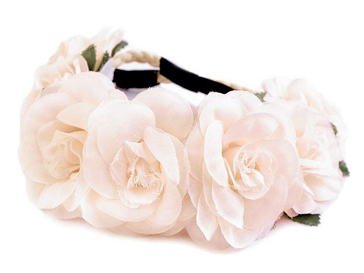 Opaska do włosów elastyczna z kwiatami