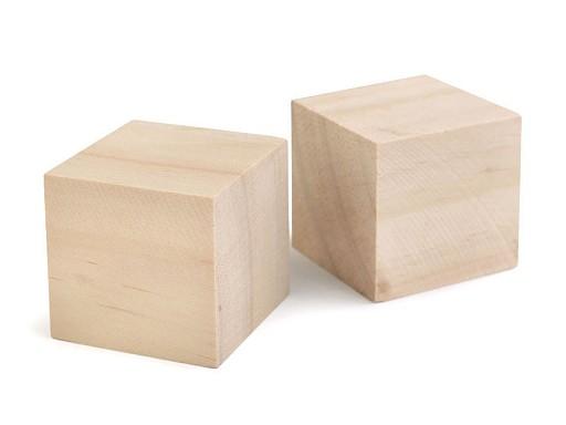 Dřevěná kostka - polotovar k dotvoření 4x4 cm