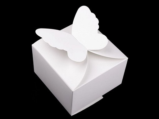 Papírová krabička s motýlem svatební