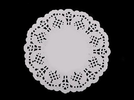 Papírová krajka k výrobě andělů a stromečků Ø10 cm