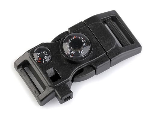 Spona trojzubec s píšťalkou a kompasem šíře 20 mm