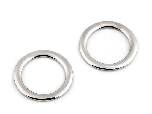 Spona / oděvní kroužek Ø28 mm plochý