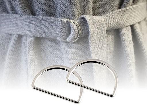 Polokroužek na textilní pásky šíře 25 mm plochý
