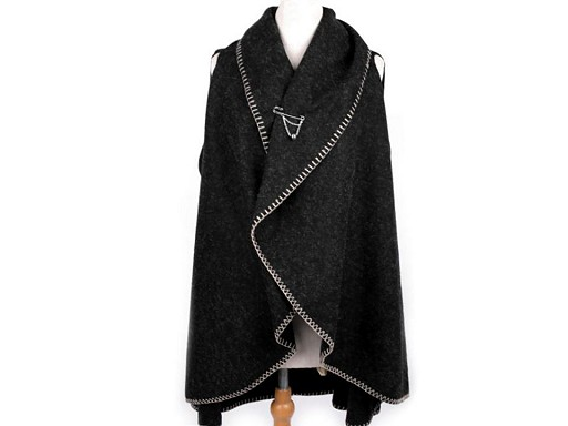 Dámská vesta / kardigan s ozdobným špendlíkem