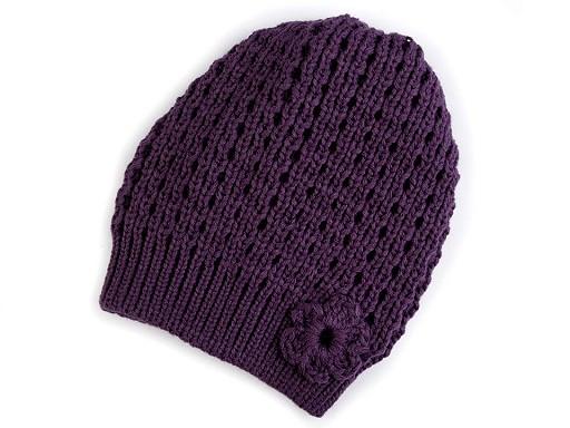 Dívčí pletená čepice / baret Capu