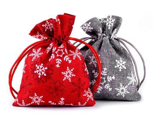 Darčekové vrecúško vločky 10x13 cm