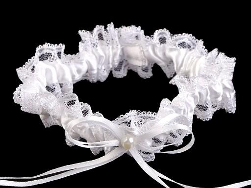 Ślubna podwiązka koronkowa szerokość 3,5 cm