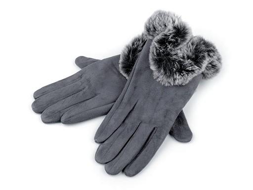 Dámské rukavice s kožešinou