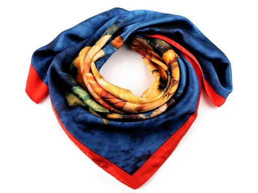 Velký saténový šátek 130x130 cm