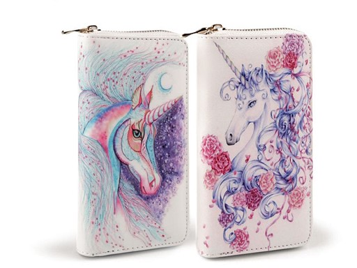 Dámska peňaženka jednorožec 10x19 cm