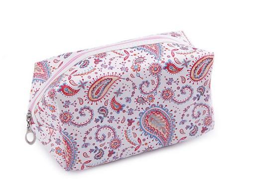 Kosmetická taška paisley, sova 10,5x18 cm