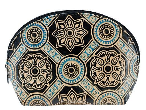 Pouzdro / kosmetická taška kožená 12x18 cm