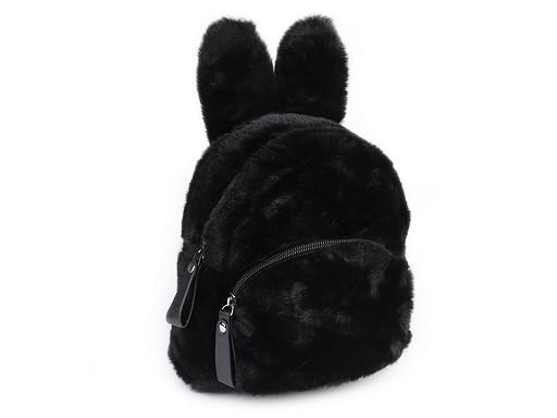 Dívčí kožešinový batoh zajíc