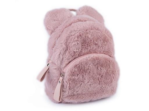 Dívčí kožešinový batoh medvídek