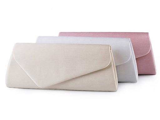 Torebka - kopertówka satynowa z żebrowanym pokryciem