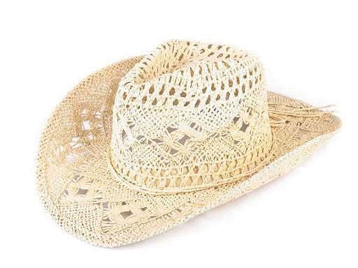 Kovbojský klobouk / slamák k dozdobení