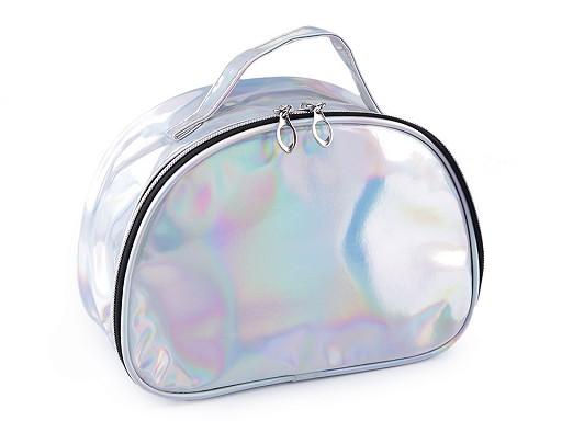 Holografická kosmetická taška / kufřík 17x23 cm 2. jakost