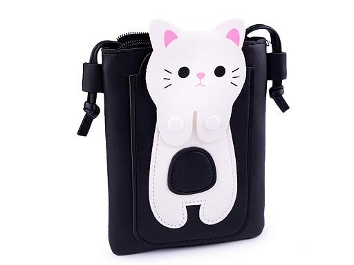 Dievčenská kabelka mačka 14x18 cm