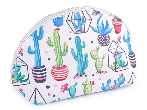 Kosmetická taška kaktusy a sukulenty 14,5x25 cm