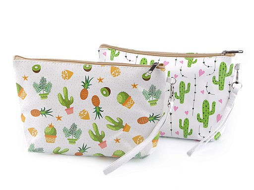 Kosmetická taška kaktus, ananas 16x25 cm
