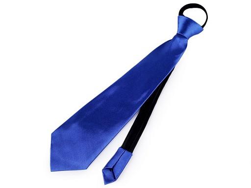 Saténová párty kravata jednobarevná