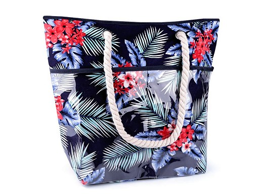 Letní / plážová taška květy 41x51 cm