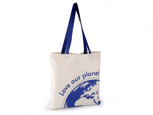 Textilní taška bavlněná 40x42 cm svět