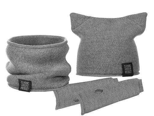 Dívčí zimní sada čepice, nákrčník a rukavice