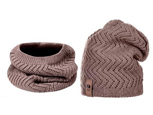 Dámska zimná sada čepice a nákrčník