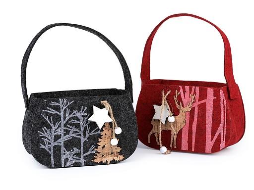 Vánoční filcová taška dekorační / dárková