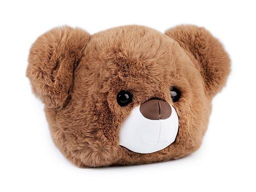 Detská kožušinová kabelka / batoh medvedík
