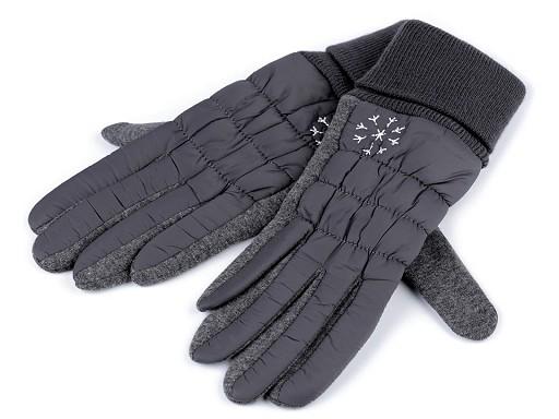 Dámské prošívané rukavice vločka
