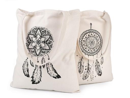 Textilní taška bavlněná 34x39 cm lapač snů
