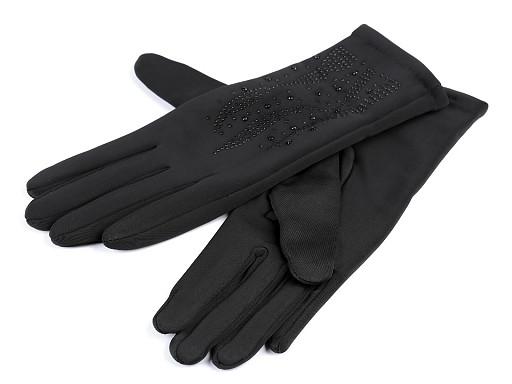 Rękawiczki damskie z kamyczkami
