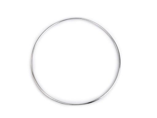 Kovový kruh na lapač snů / k dekorování Ø18 cm