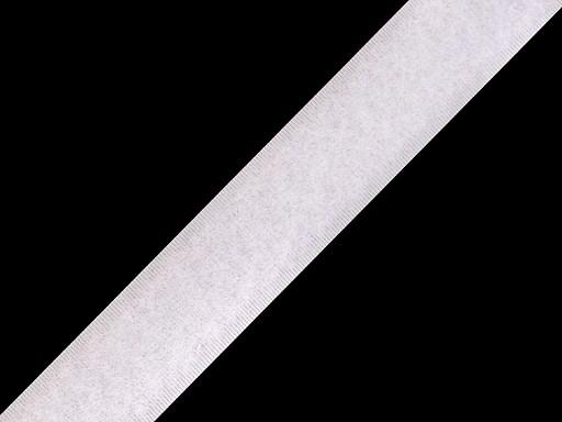 Suchý zip plyš šírka 20 mm biely