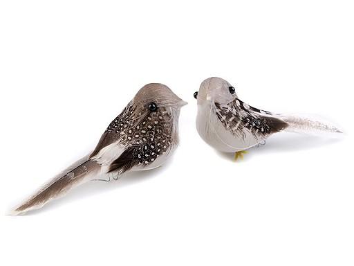 Dekorace ptáček s drátkem