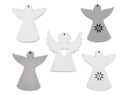 Dřevěný anděl k zavěšení / k nalepení