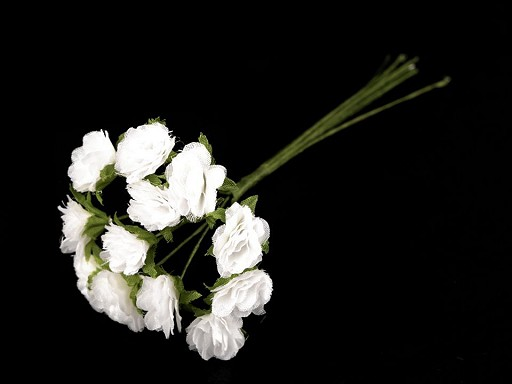 Blume auf Draht / Halbprodukt zum Arrangieren Ø10-15 mm