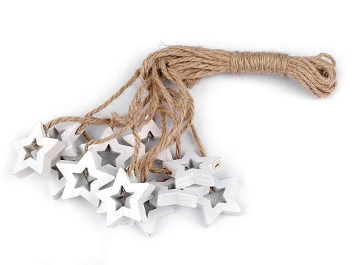 Dřevěná hvězda, anděl, houpací koník s provázkem