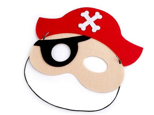 Dětská karnevalová maska - škraboška pirát