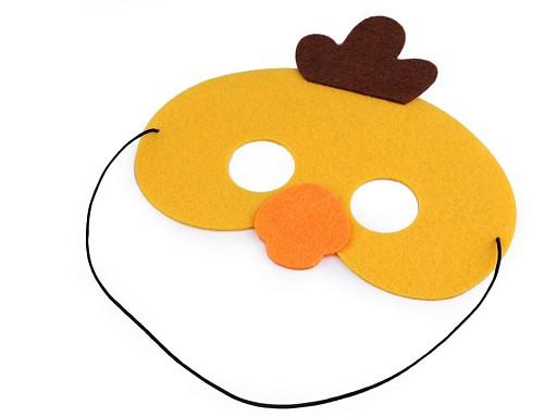 Dětská karnevalová maska - škraboška filcová zvířátka