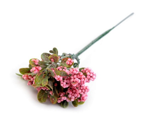 Sztuczna gałązka z jagodami i listkami do aranżacji