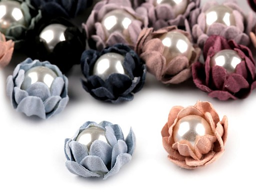 Květ s perlou Ø18 mm